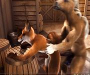 cartoon-de-raposa-sendo-comida-por-cavalo-mix-de-sexo