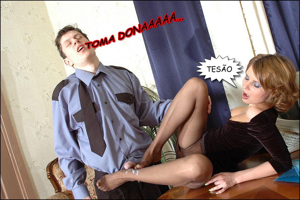 homem ejacula nos pés de madura casada