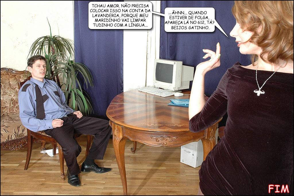 casada convida jovem para ir foder ao pé do corno